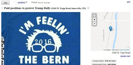 Craigslist Ad: 'Get Paid $15 An Hour to Protest At The Trump