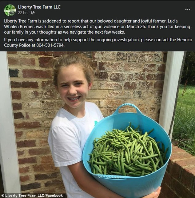 Her Name Was Lucia Whalen Bremer: 13yo Girl Shot Dead By 'Juvenile' Thug While Walking In Virginia Suburb 3