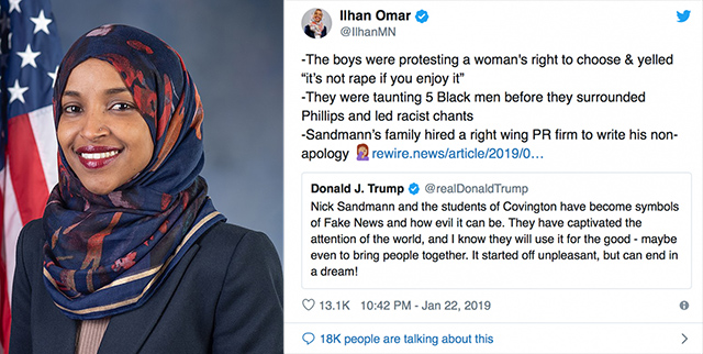 rep  ilhan omar smears covington boys   u0026 39 they were taunting