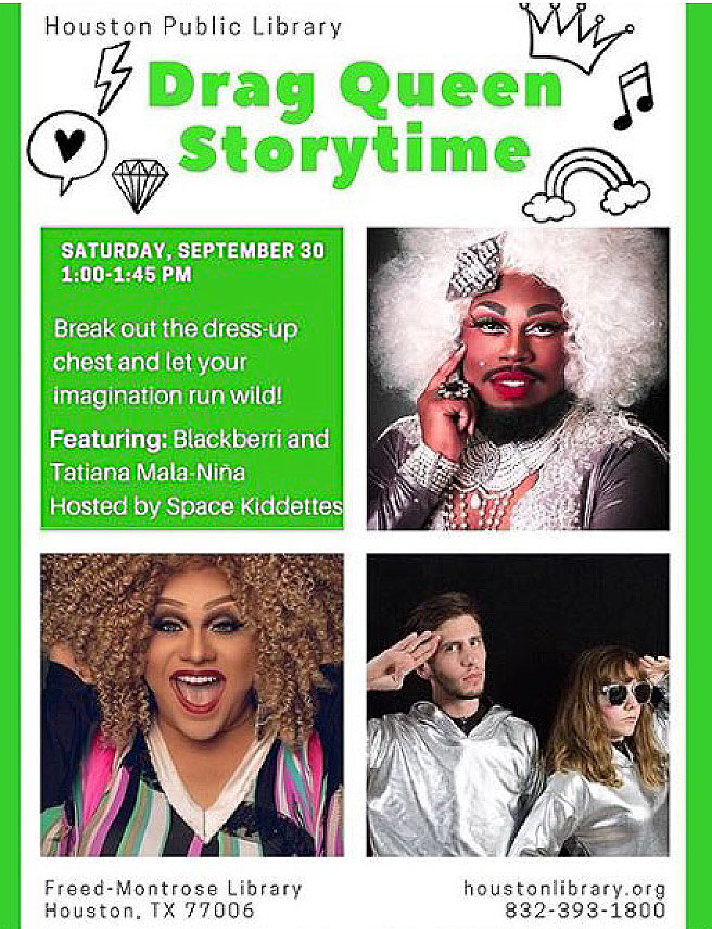 Houston 'Drag Queen Storytime' Shuts Down After Participant Outed As Child Sex Offender