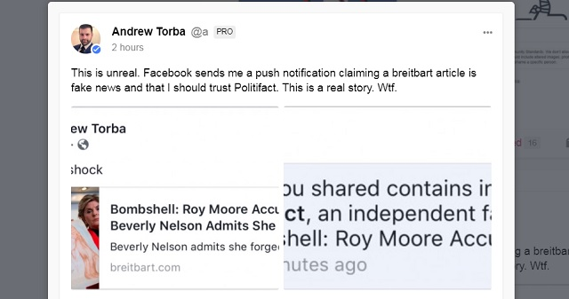 Facebook Censors Roy Moore Yearbook Forgery Bombshell, Politifact
