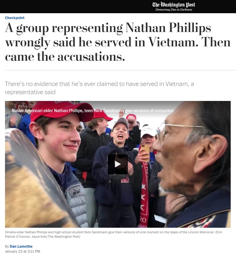 Newly Surfaced Video Shows Nathan Phillips Explicitly Claimed He's A 'Vietnam Vet'