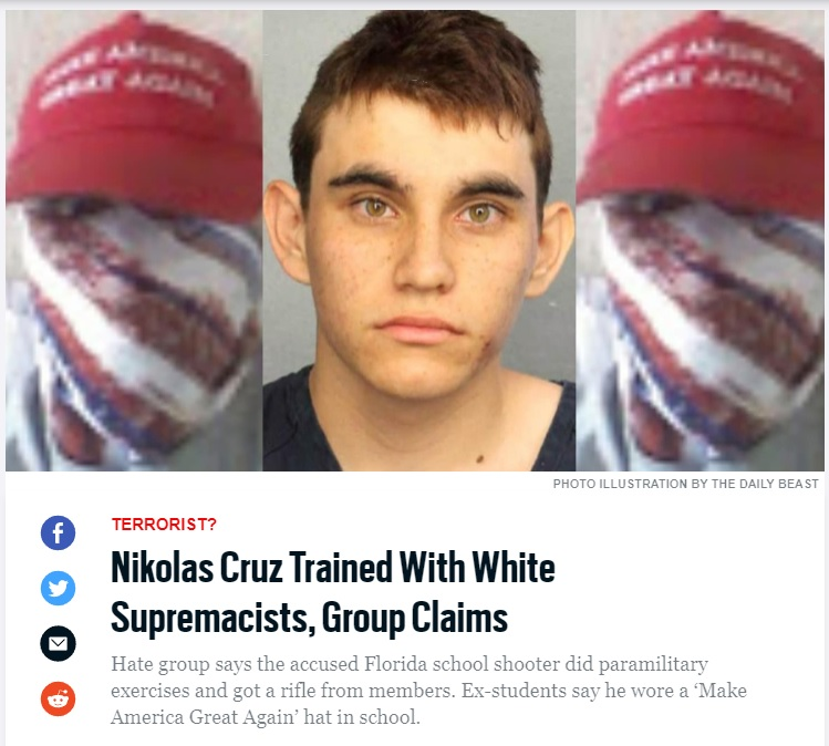Report: School Shooting Suspect Was Member Of White