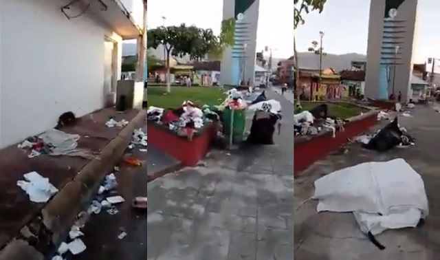 Mexican Woman Laments Trash-Covered Streets After Migrant ...