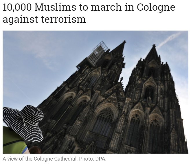 10,000 Muslims Expected to Attend March Against Terror, Few Hundred Mostly White Liberals Show Up
