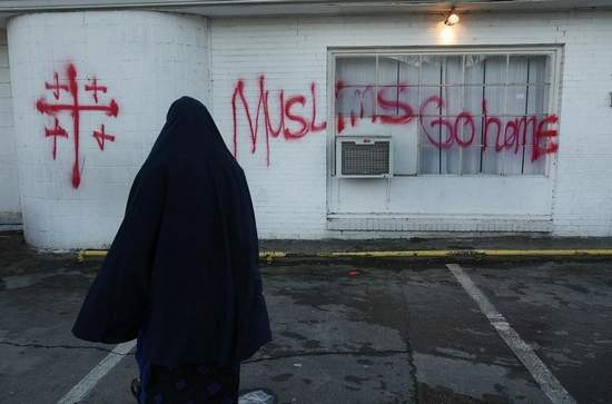 hate filled letter usa mosque