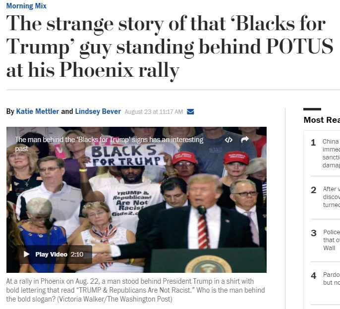 Media Run Hit Pieces Attacking Black Audience Member At Trump's Speech