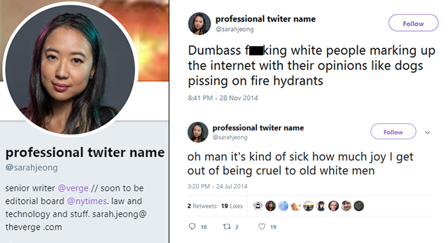 Journos Defend NYT Hire's Anti-White Tweets: 'Sarah Jeong Is Good, Her Haters Are Bad'