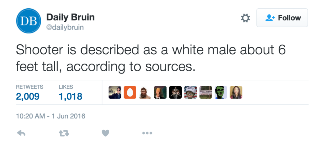 """Meet the """"White Male"""" Who Killed a Professor at UCLA"""