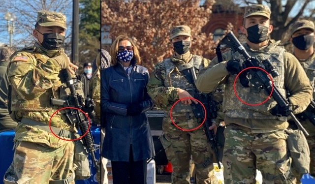 Security Theater? National Guard 'Protecting' U.S. Capitol Pictured Without Magazines In Their Rifles